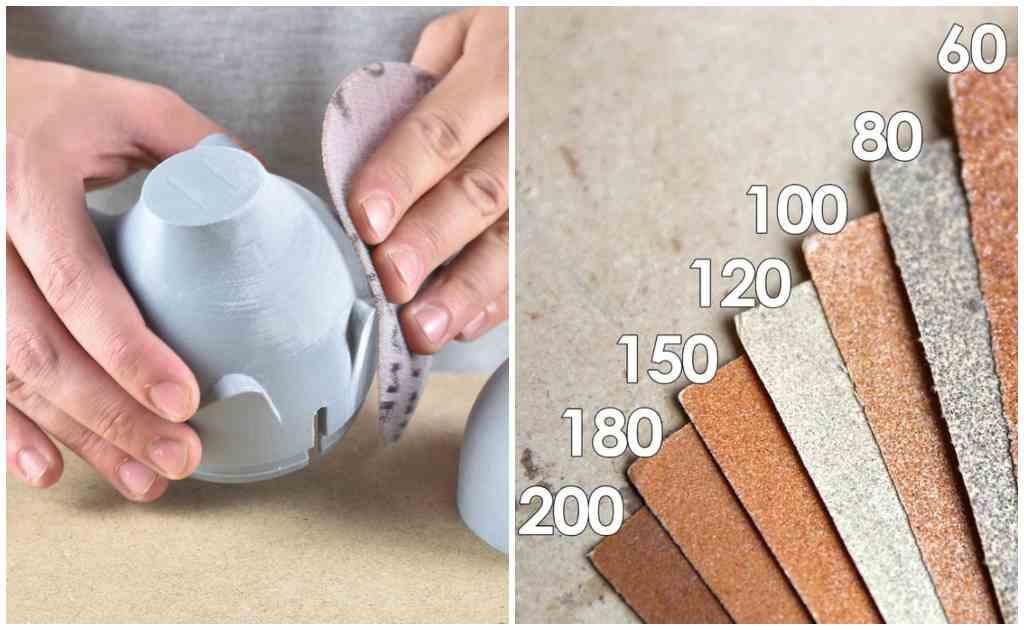 lijado piezas impresión 3d